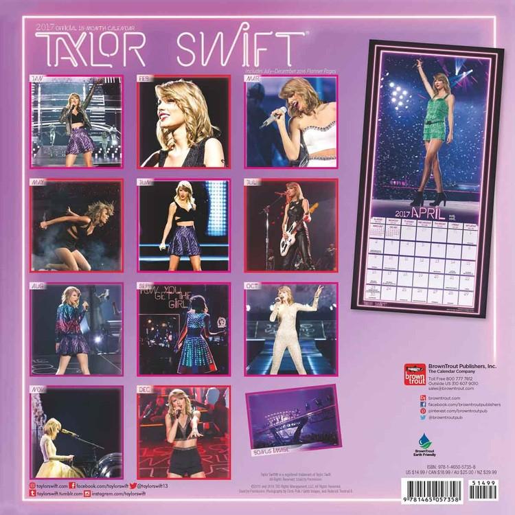 Kalender 2018 Taylor Swift