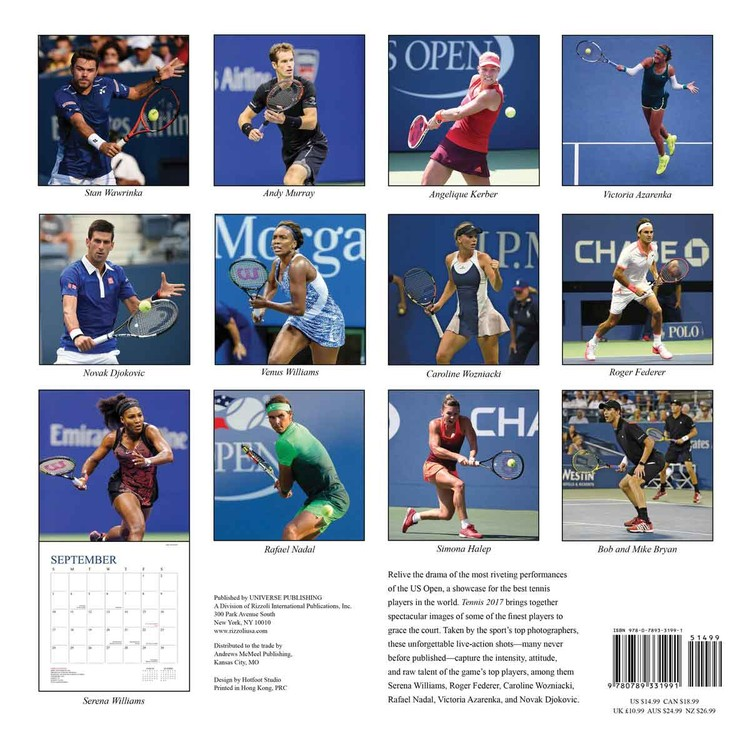 Kalender 2018 Tennis The U.S. Open