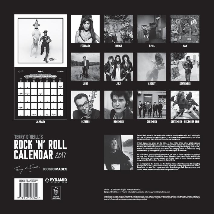 Terry O'Neill's Rock 'n' Roll Kalender 2018