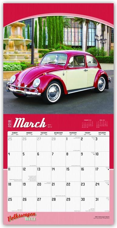 volkswagen beetle kalender 2019 kj p hos europosters. Black Bedroom Furniture Sets. Home Design Ideas
