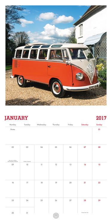 kalender 2019 volkswagen camper vans bei europosters. Black Bedroom Furniture Sets. Home Design Ideas