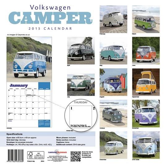 kalender 2019 vw volkswagen camper bei europosters. Black Bedroom Furniture Sets. Home Design Ideas