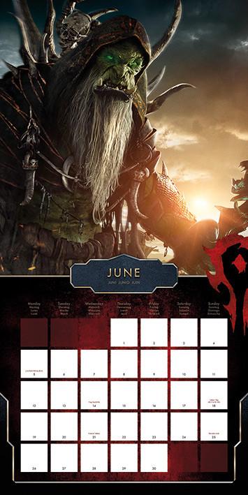 Kalender 2018 -  WarCraft