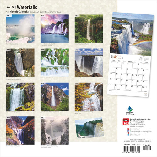 Kalender 2018 -  Waterfall