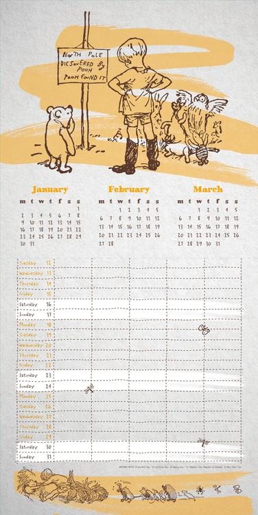 Kalender 2018 Winnie Puuh - Organiser