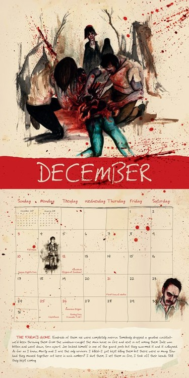 Zombie Kalender 2018