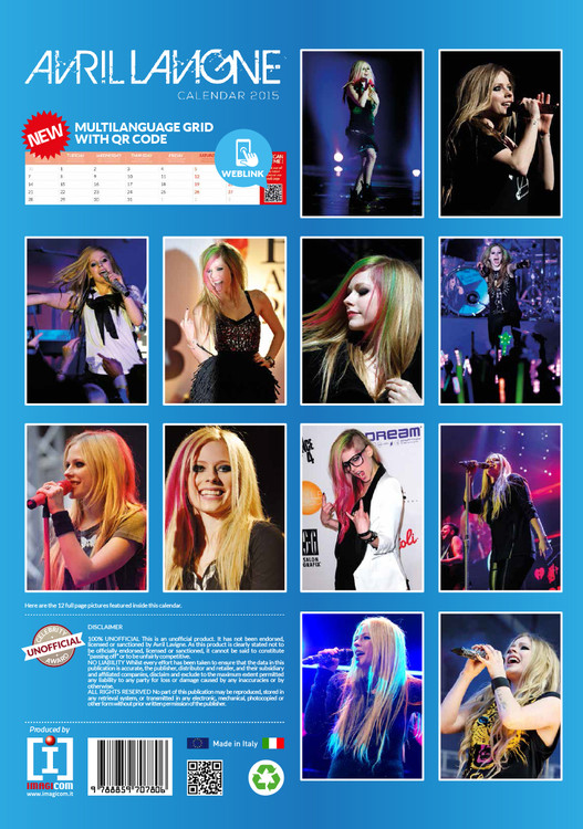 Avril Lavigne Kalender 2019