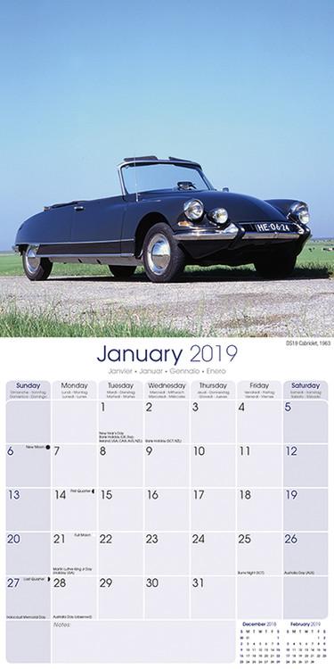 Citroen Classic Cars Kalender 2019