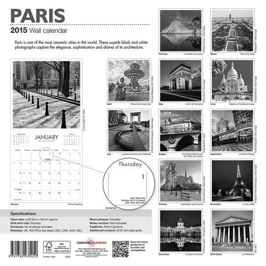 Paris Kalender 2018