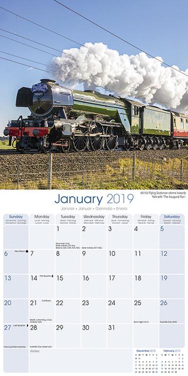 Steam Trains Kalender 2019