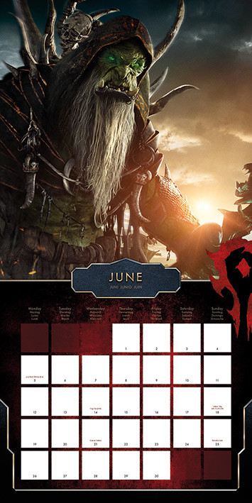 WarCraft Kalender 2019
