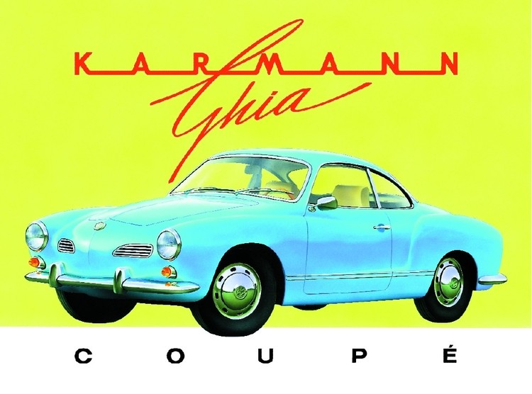 KARMANN GHIA Metalen Wandplaat