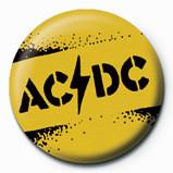 Kitűzők AC/DC - Yellow stencil