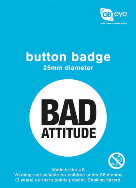 Kitűzők Bad Attitude