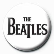 BEATLES (BLACK LOGO) - Kitűzők