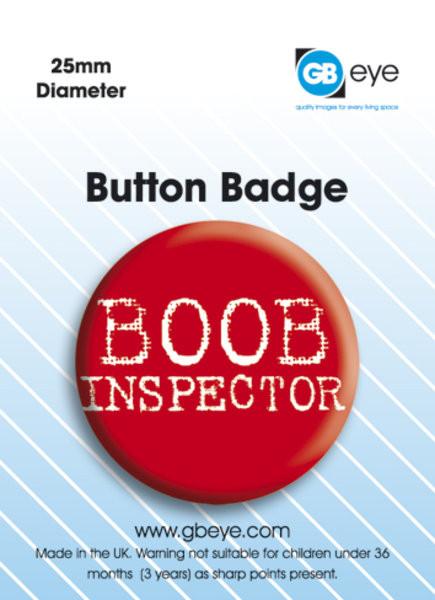 Kitűzők Boob Inspector