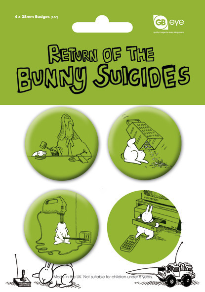 BUNNY SUICIDES - Pack 2 kitűző