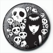 Emily The Strange - skulls - Kitűzők