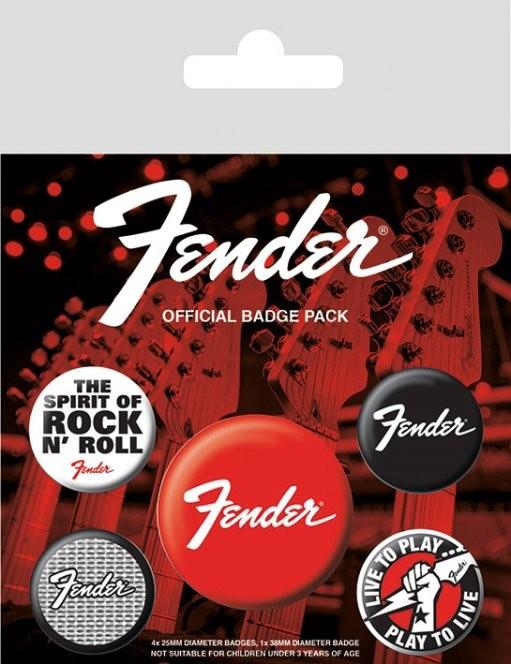 Fender kitűző