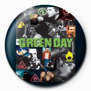 GREEN DAY - COLLAGE - Kitűzők