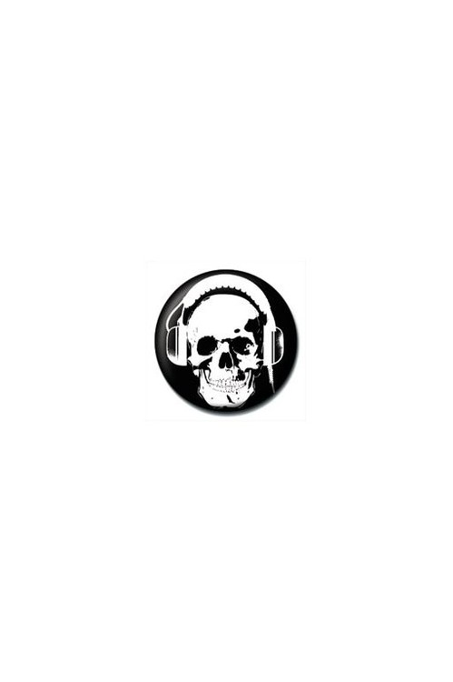 Kitűzők HEADPHONE SKULL