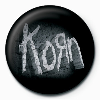 Kitűzők Korn - (Stone Logo)