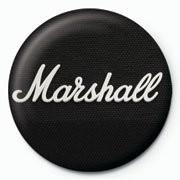 MARSHALL - black logo - Kitűzők