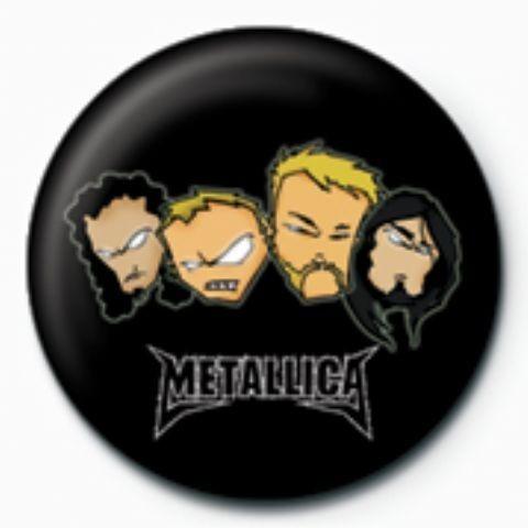 Kitűzők METALLICA - heads GB