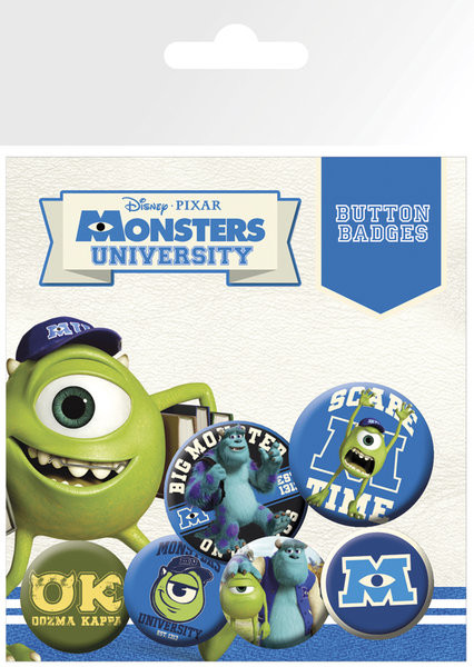 MONSTERS UNIVERSITY kitűző