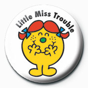 MR MEN (Little Miss Troubl - Kitűzők