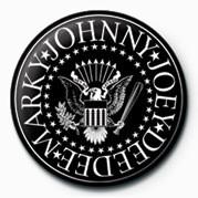 Ramones (B&W Logo) - Kitűzők