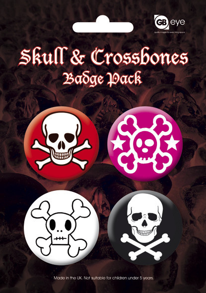 SKULL AND CROSSBONES - 2 kitűző