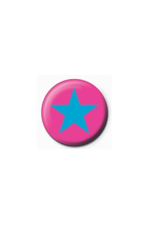 Kitűzők STAR - pink/blue