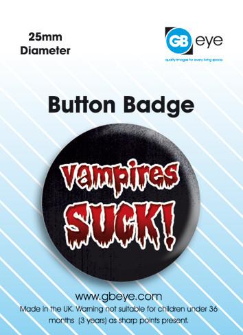 Vampire Suck - Kitűzők