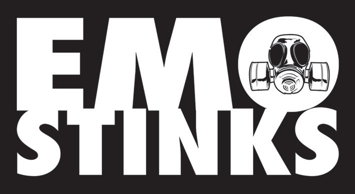 EMO STINKS Klistremerke