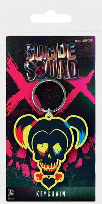 Kľúčenka Jednotka samovrahov - Harley Quinn Skull