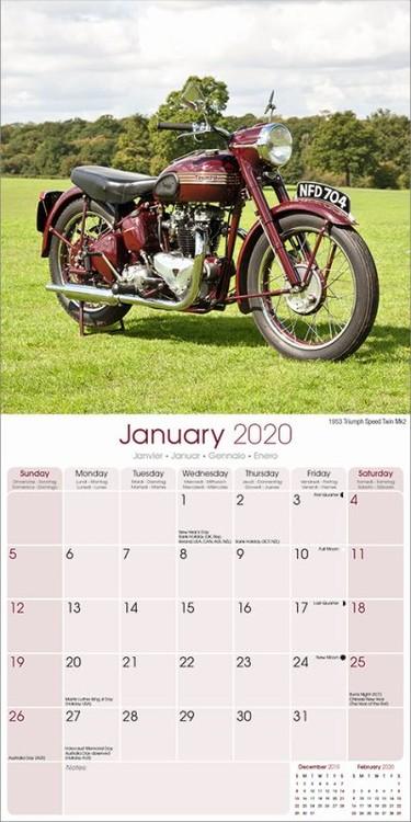 Classic British Bikes Koledar 2020