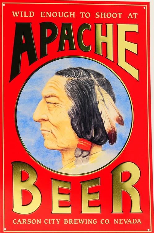 APACHE BEER Kovinski znak