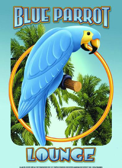 BLUE PARROT LOUNGE Kovinski znak