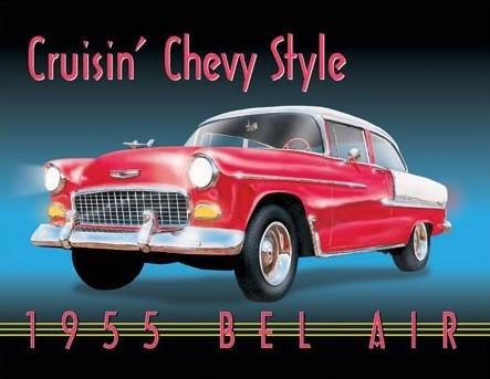 Cruisin' Chevy Style Kovinski znak