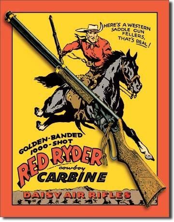 DAISY RED RYDER CARBINE Kovinski znak