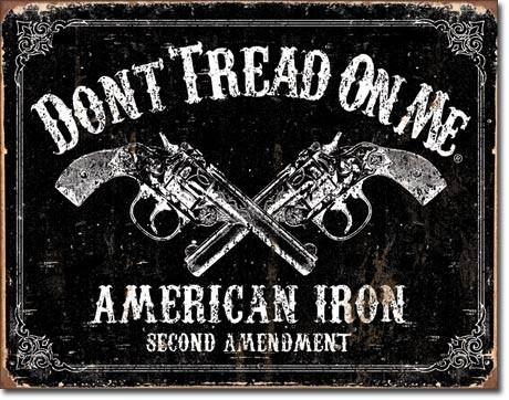 DTOM - american iron Kovinski znak