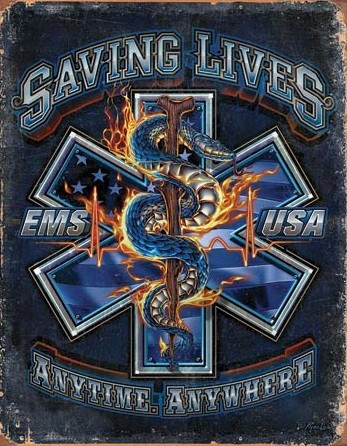 EMS - Saving Lives Kovinski znak