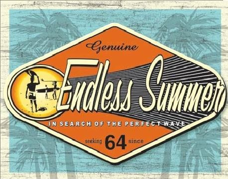 ENDLESS SUMMER - genuine Kovinski znak