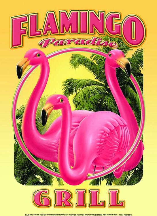 FLAMINGO GRILL Kovinski znak
