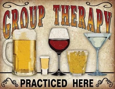 Group Therapy Kovinski znak