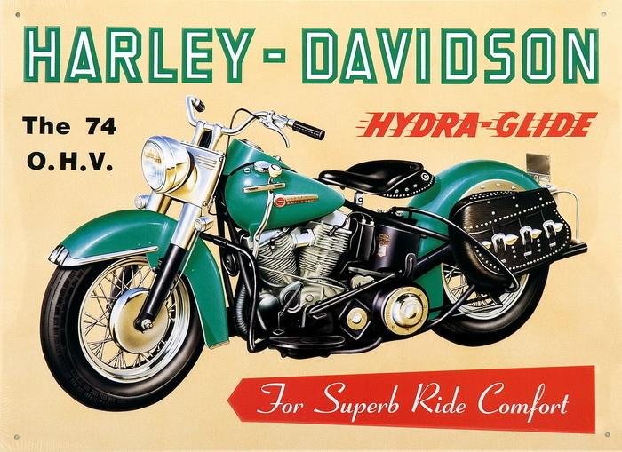 HARLEY DAVIDSON - hydra glide Kovinski znak