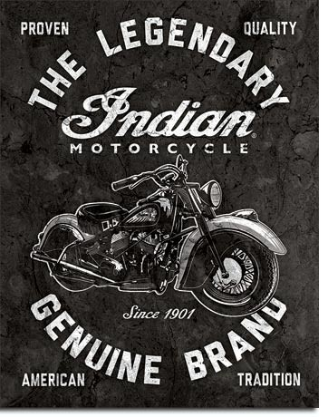 Indian Motorcycles - Legendary Kovinski znak