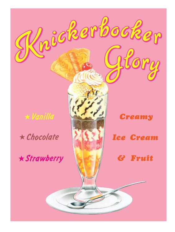 KNICKERBOCKER GLORY Kovinski znak