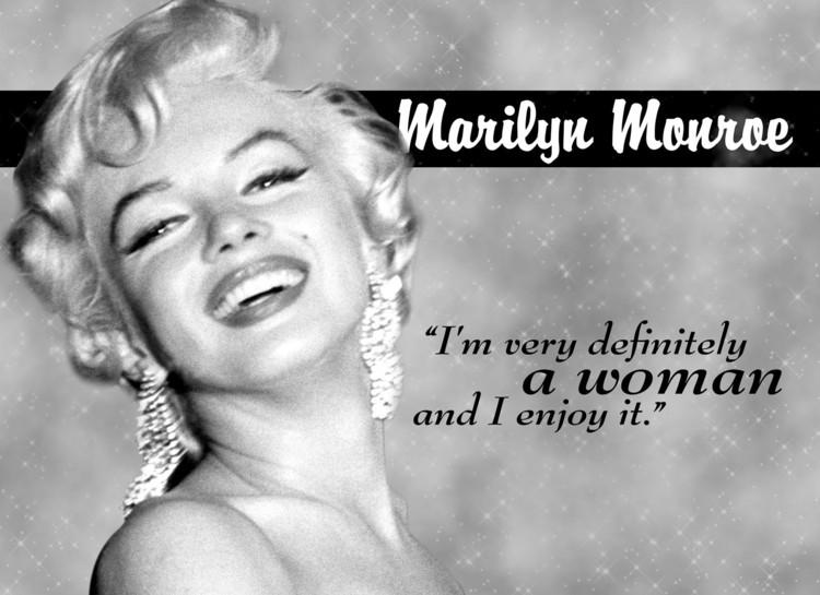 MARILYN MONROE WOMAN Kovinski znak